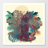 Panther Square Canvas Print
