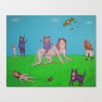 ALIEN GATOS Canvas Print