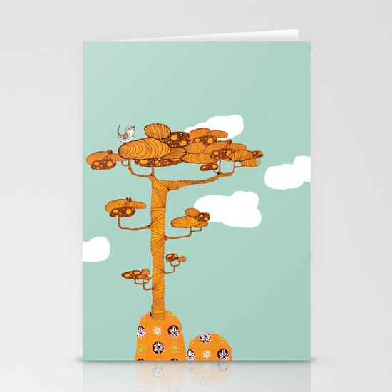 Trees. Stationery Card
