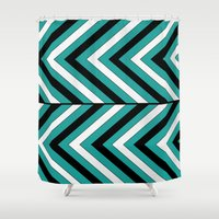 Pattern Turquoise 1 Shower Curtain