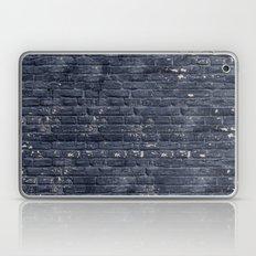 Black Brick Wall Laptop & iPad Skin