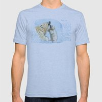 Polar bears A0086 Mens Fitted Tee Athletic Blue SMALL