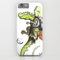 Dinosaur Wearing Jetpack iPhone 6 Slim Case
