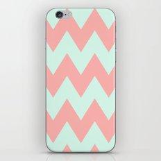 Big Chevron (Coral & Mint) iPhone & iPod Skin