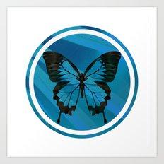 Blue Virus Art Print