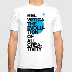 Helveti/ca I Mens Fitted Tee White SMALL