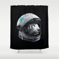 Astro Tiger Shower Curtain