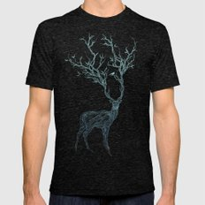 Blue Deer Mens Fitted Tee Tri-Black SMALL