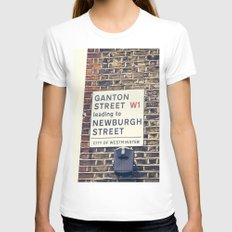 London Street Sign Womens Fitted Tee White SMALL