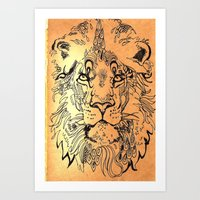 Lion Elaborate Art Print