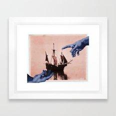 in god's hands Framed Art Print