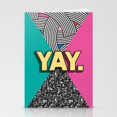 Yay. Positive Typography Message Stationery Cards