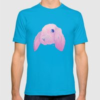 Bouncing Bonnie - Drawing Mens Fitted Tee Teal SMALL