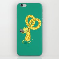 A Giraffe Photographer iPhone & iPod Skin