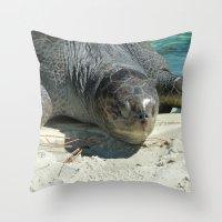 Turtle Ashore Throw Pillow
