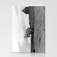 Two Dartmoor ponies in the early morning Stationery Cards