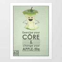 Apple-tite Art Print