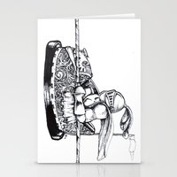 Knight cart bumper Stationery Cards