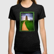 Path To The Top Of Magic… Womens Fitted Tee Tri-Black SMALL