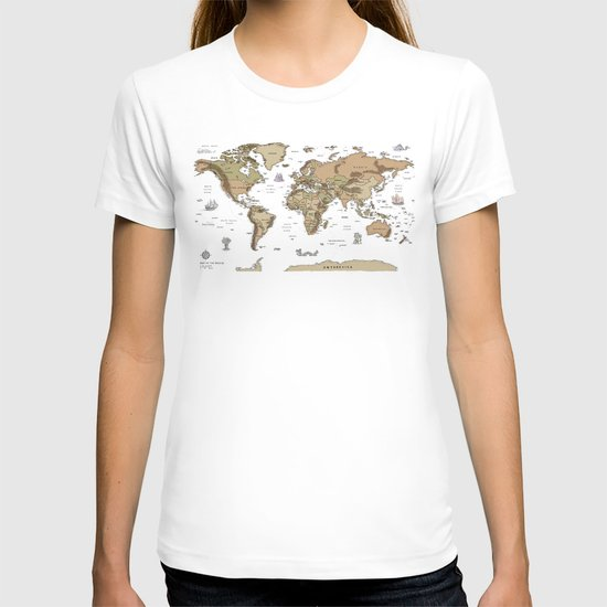 World Treasure Map T-shirt