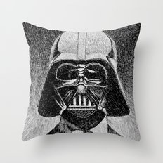Darth Vader portrait #2 Throw Pillow