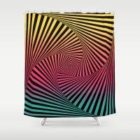 Summer Sunset Twista  Shower Curtain