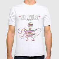 Octopulse   Design by sea Mens Fitted Tee Ash Grey SMALL