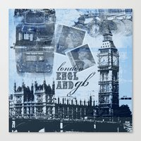 Anglophile Love Canvas Print