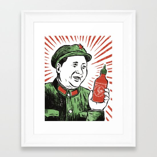 Mao Sauce Framed Art Print
