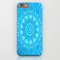 turquoise iPhone & iPod Cases featuring turquoisE Mandala Expolosion by 2sweet4words Designs