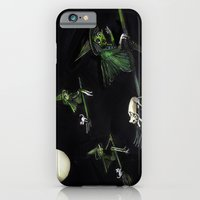 Three Witches on Brooms with the Moon.  iPhone 6 Slim Case