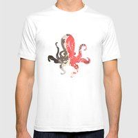 Marble Octo Mens Fitted Tee White SMALL
