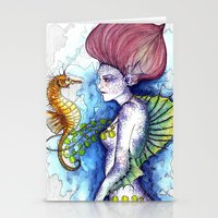the seahorse's friend Stationery Cards