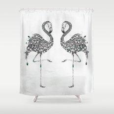 Poetic Flamingo Shower Curtain