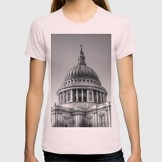 St Pauls, London Womens Fitted Tee Light Pink SMALL