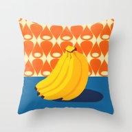Fruit With Wallpaper (ba… Throw Pillow