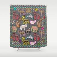 Animals&Patterns Shower Curtain