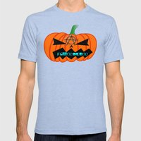 Anarcho Pumpkin Mens Fitted Tee Tri-Blue SMALL
