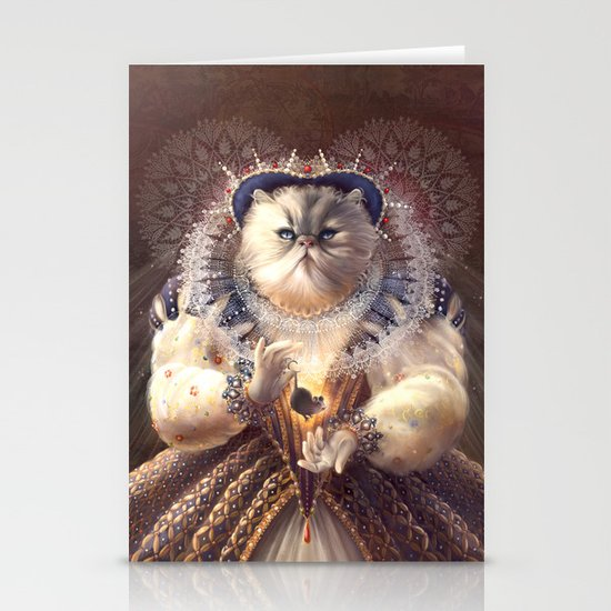 Cat Queen Stationery Card