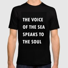 The Voice Of The Sea Black SMALL Mens Fitted Tee
