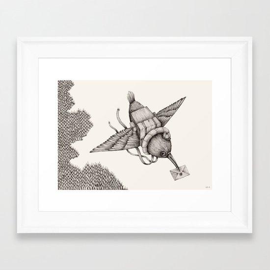 'Telegramme - Part 1' Framed Art Print