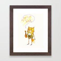 HEY LOOK. Framed Art Print