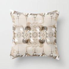 Pattern Silver Brown Throw Pillow