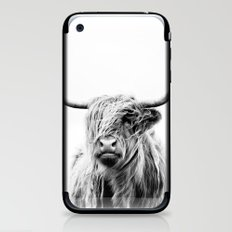 portrait of a highland cow iPhone & iPod Skin