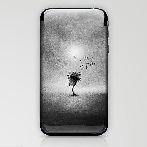 Minimal B&W II iPhone & iPod Skin