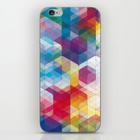 Cuben Curved #4 iPhone & iPod Skin