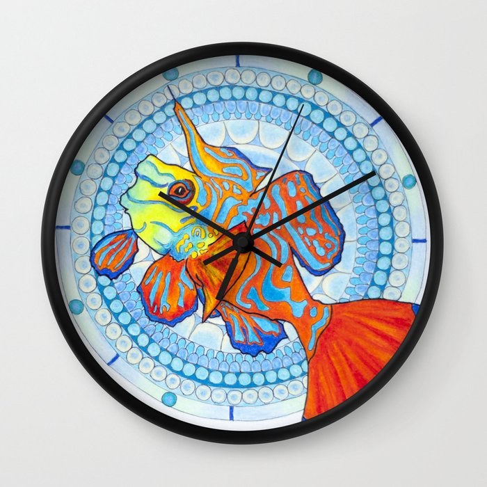 Fish Mandala Wall Clock by Imaginarium Creative Studios ...