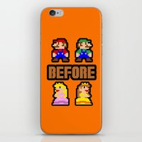 Super Mario Bros Before Hoes iPhone & iPod Skin