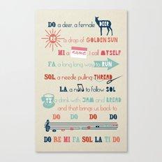 Do Re Mi Fa Sol La Ti Do Canvas Print