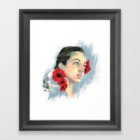 Poppy Of The Sea Framed Art Print